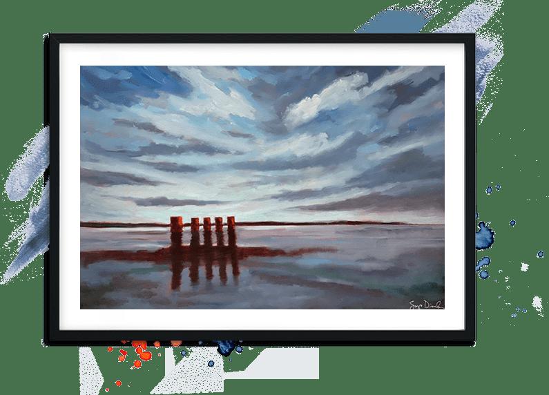 Dark Lake Hero Painting